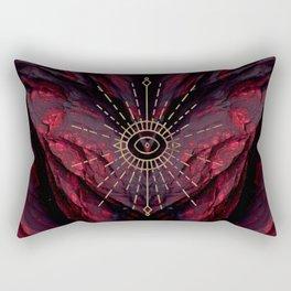 Scarlet Heart Mineral Eye Rectangular Pillow