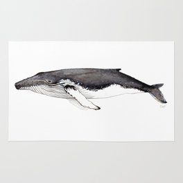North Atlantic Humpback whale Rug