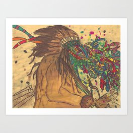 Indian_Expression Art Print