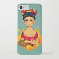 frida iPhone & iPod Cases featuring Frida by La Perera