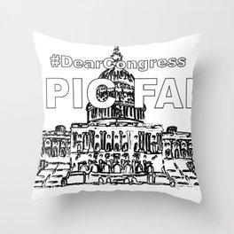 Congress EPIC FAIL Throw Pillow