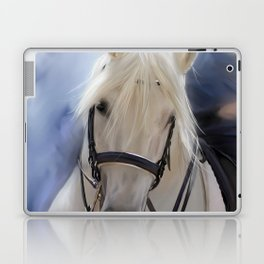 Painted White Horse head Laptop & iPad Skin