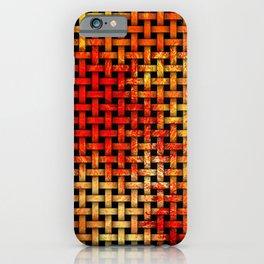 Autumn Tone Wooden Weave Pattern iPhone Case