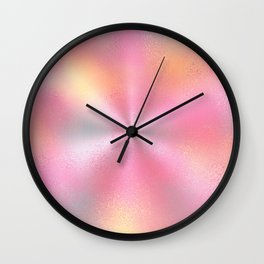 Pink Starburst Pattern Wall Clock