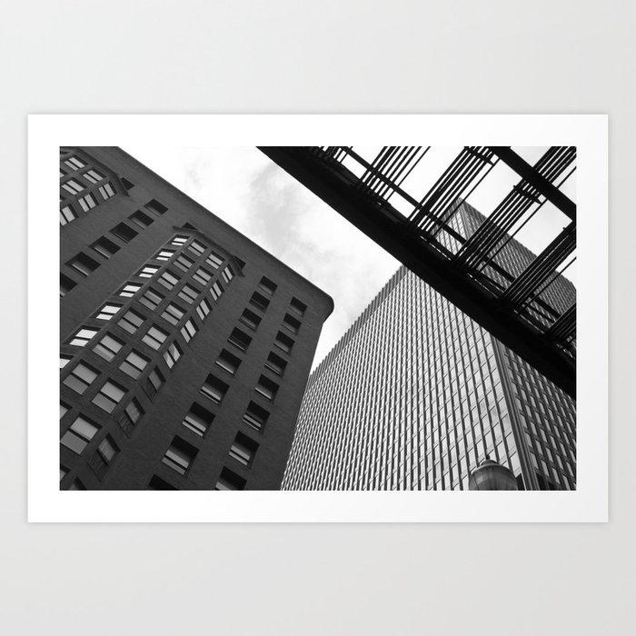 Chicago Black & White Art Print