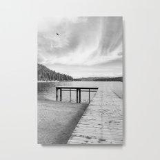 Dock on Lake Metal Print