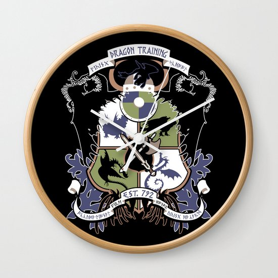 Dragon Training Crest - How to Train Your Dragon Wall Clock