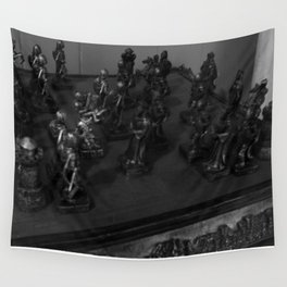 CHESS GAME NOIR Wall Tapestry