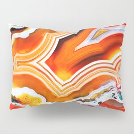 The Vivid Imagination of Nature, Layers of Agate Pillow Sham