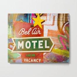 Bel Air Motel Graffiti and Neon Sign Metal Print