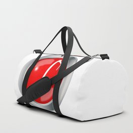 Red Musical Note Button Duffle Bag