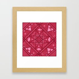 Earth, Water, Air and Fire Framed Art Print