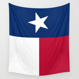 Texan state flag - high quality vertical authentic Version  Wall Tapestry