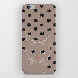 Cat stare iPhone Skin