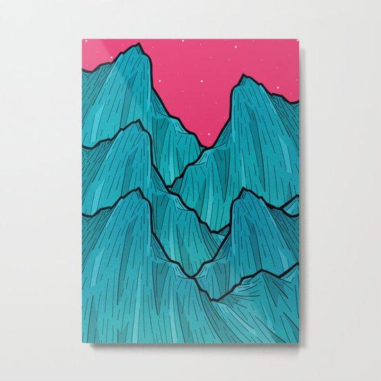 Mountains of Waves Metal Print