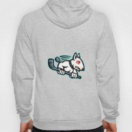 Bull Terrier Ice Hockey Mascot Hoody