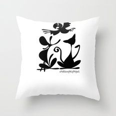 Pet Logo Throw Pillow