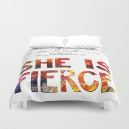 though she be but little she is fierce Duvet Cover