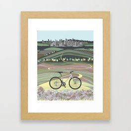 Bicycle Illustration Framed Art Print