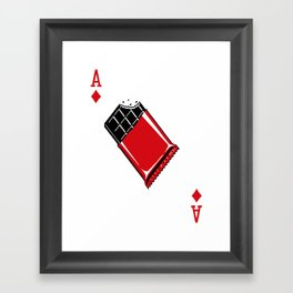 Delicious Deck: The Ace of Diamonds Framed Art Print