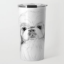 Cartoon Pekingese Dog Travel Mug