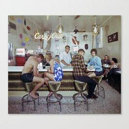 1960's Coffee Shop in the Safari Motel, Ocean City MD, Retro Motel Canvas Print