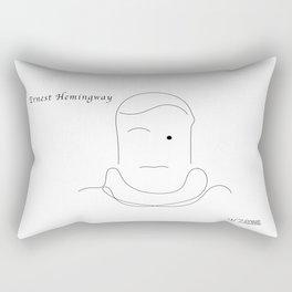Ernest Hemingway, by Will Zurmann Rectangular Pillow