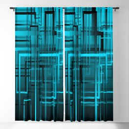 Black and blue abstract Blackout Curtain