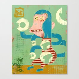 M is for Monkey Canvas Print