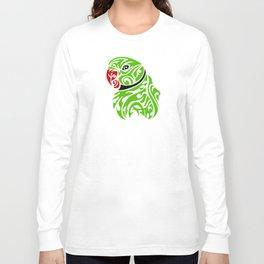 Green ringneck parrot tattoo Long Sleeve T-shirt