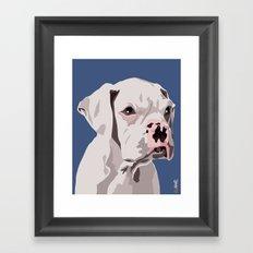 WhiteDog Framed Art Print
