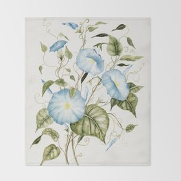 Morning Glories Throw Blanket