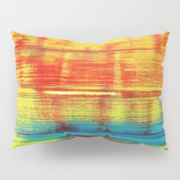 Sunny Sunset, Colorful Abstract Art Pillow Sham