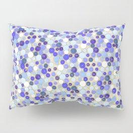 Blue disks Pillow Sham
