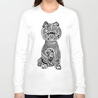 pomeranian Long Sleeve T-shirts featuring Polynesian Pomeranian by Huebucket