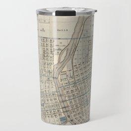 Vintage Map of Des Moines IA (1875) Travel Mug