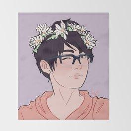 YOI Flower Boys - Yuuri Throw Blanket