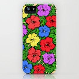 Hibiscus & Monstera iPhone Case