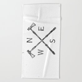 compass Beach Towel
