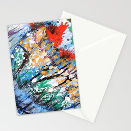 BUTTERFLY - Original abstract painting by HSIN LIN / HSIN LIN ART Stationery Cards