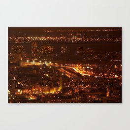 Montreal by night - 2 Canvas Print