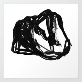 Boceto gestual 6 Art Print