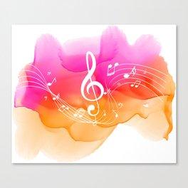 Watercolor, Musical Notes, watercolor t-shirt, watercolor sticker Canvas Print