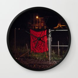 A Good Place To Start, The Unravel, Silk Graffiti by Aubrie Costello Wall Clock