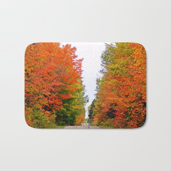 Rolling Through the Hills of Autumn Bath Mat