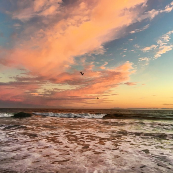 Cotton Candy Sunset Comforters