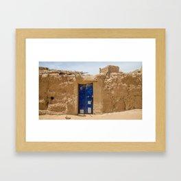 Blue Door in Morocco Framed Art Print