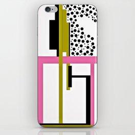 CREATIVE PINK, GREEN AND BLACK PRINT DESIGN iPhone Skin