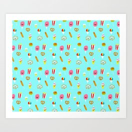 Carnies Pattern Art Print