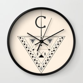 Moroccan and Algerian inspiration - Fubula and berber ornaments Wall Clock
